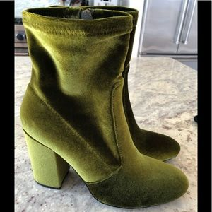 by the way. Revolve Green Velvet Bootie